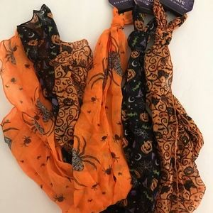 Accessories - Set of 3-HALLOWEEN PRINT SCARFS-